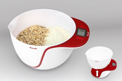 escali taso kitchen scale red1