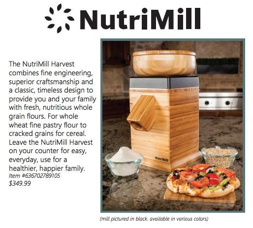 Nutrimill Harvest Grain Mill Description