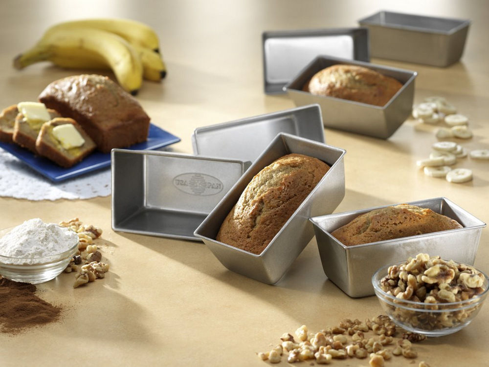 Mini Bread Loaf Pan By Usa Pan Set Of 4 Breadtopia
