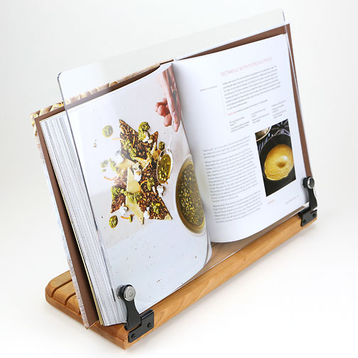 How To Make A Book Holder Out Of Cardboard : Cookbook holder breadtopia