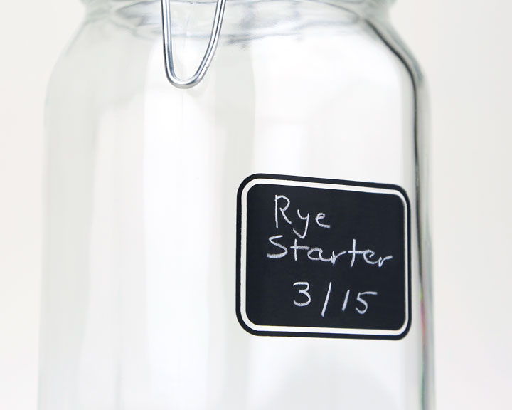 Chalkboard Sourdough Starter Jar 15 Quart Breadtopia