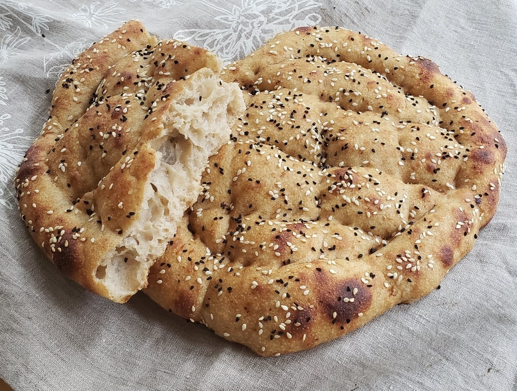 Sourdough Turkish Pide (Ramazan Pidesi)
