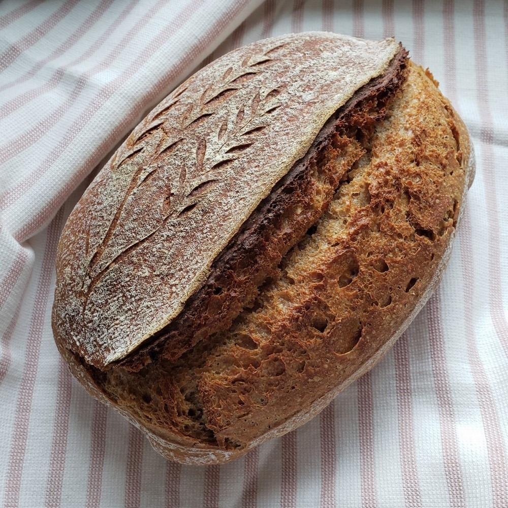 Spelt and Kamut Whole Grain Sourdough Bread
