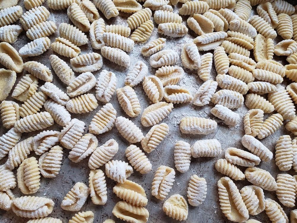 Gnocchetti & Cavatelli from a Corn-and-Wheat Pasta