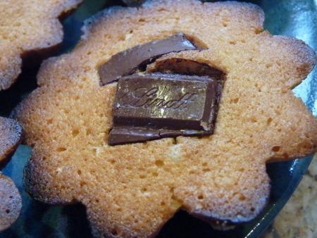 Financier with Lindt Chocolate