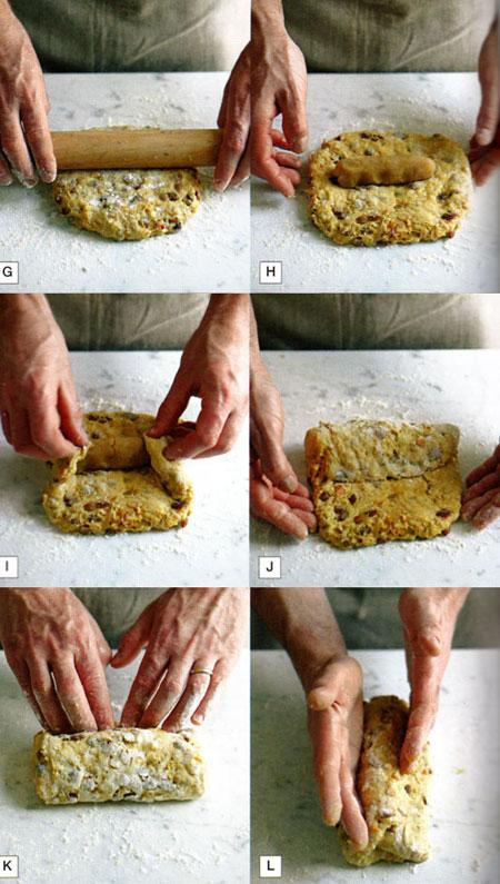 molding marzipan stollen